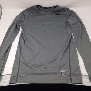 Nike Pro Combat Dri-Fit Grey Compression Shirt